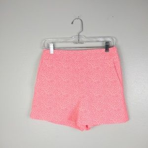 Express High Waist Neon Coral Shorts w Pockets 4